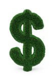Green grass dollar sign. Royalty Free Stock Photos
