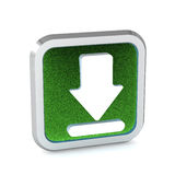 Green grass download icon Stock Image