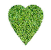 Green grass ecological heart icon. On over white background royalty free stock photos