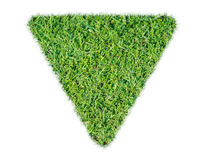 Green grass ecological triangle rendered icon Royalty Free Stock Photos