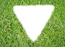 Green grass ecological triangle rendered icon Royalty Free Stock Images