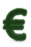 Green grass euro sign. Royalty Free Stock Photography