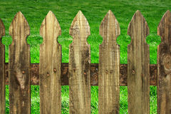 Green grass with fence Royalty Free Stock Photos