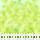 Green grass and fence Royalty Free Stock Photo