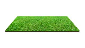 Green grass field isolated on white with clipping path. Artificial lawn grass carpet for sport background stock image
