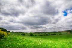 Green grass fields. In the South Yorkshire Royalty Free Stock Image