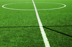 Green grass football field Royalty Free Stock Image