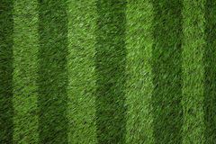 Green grass football field background Royalty Free Stock Images