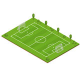 Green Grass Football Field. Vector Stock Photos