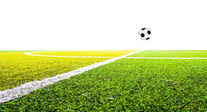 Green grass for football sport. Football field, soccer Royalty Free Stock Photography