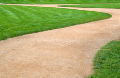 Green grass and footpath Stock Image