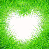 Green grass form heart shape Stock Images