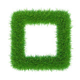Green grass frame with centre copy-space. stock image