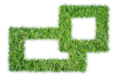 Green grass frame Royalty Free Stock Photos