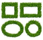 Green grass frames vector set Royalty Free Stock Photography