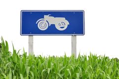 Green grass in front of bike logo Stock Images