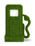Green grass  fuel pump out Royalty Free Stock Photography