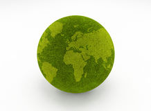 Green grass globe Royalty Free Stock Photos