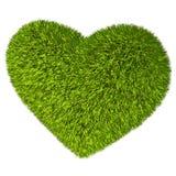 Green grass heart. Royalty Free Stock Photos