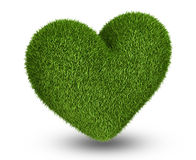 Green grass heart Royalty Free Stock Photography