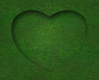 Green grass heart shape with background Stock Photography