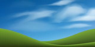 Green grass hill with blue sky. Abstract background park and outdoor. Green grass hill with blue sky. Abstract background park and outdoor for landscape idea royalty free illustration