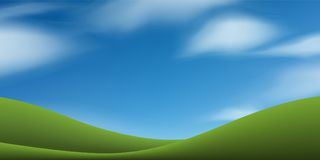 Green grass hill with blue sky. Abstract background park and outdoor. Green grass hill with blue sky. Abstract background park and outdoor for landscape idea vector illustration