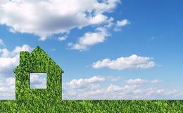 Green grass house Stock Photos