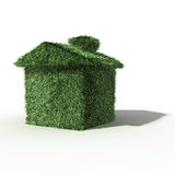 Green grass house. 3d computer generated image green grass house isolated on white background Stock Photos