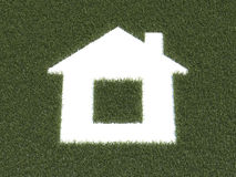 Green grass house Stock Images