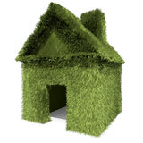 Green grass house Royalty Free Stock Image
