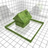 Green grass house Stock Photography