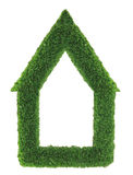 Green grass house frame Royalty Free Stock Photography
