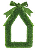 Green grass house frame Royalty Free Stock Photo