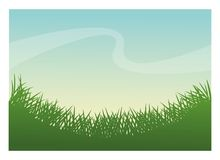 Green grass plant design. Green grass icon. lawn plant nature and field theme. Frame design. Vector illustration Royalty Free Stock Photos