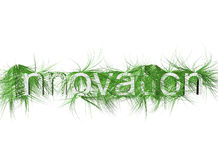Green Grass Innovation in Front View Royalty Free Stock Image