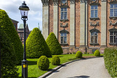 Green Grass Lawn in Front of Brown Building Royalty Free Stock Images