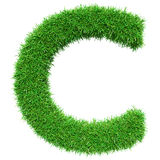Green Grass Letter C Stock Images