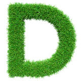 Green Grass Letter D Royalty Free Stock Image
