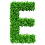 Green Grass Letter E Royalty Free Stock Image