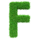 Green Grass Letter F Royalty Free Stock Photography