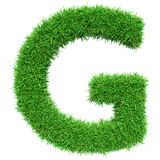Green Grass Letter G Royalty Free Stock Photos