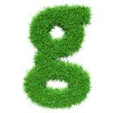 Green Grass Letter G Stock Image