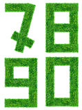 Green Grass Letter isolated Stock Image