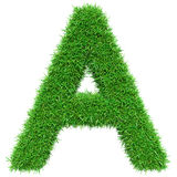 Green Grass Letter A Stock Image