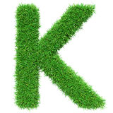 Green Grass Letter K Royalty Free Stock Photos