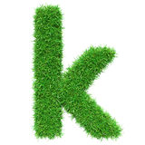 Green Grass Letter K Royalty Free Stock Photo
