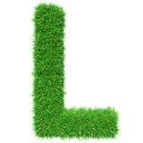 Green Grass Letter L Stock Photos