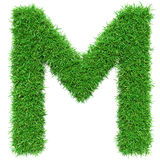 Green Grass Letter M Royalty Free Stock Image