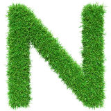 Green Grass Letter N Royalty Free Stock Photo